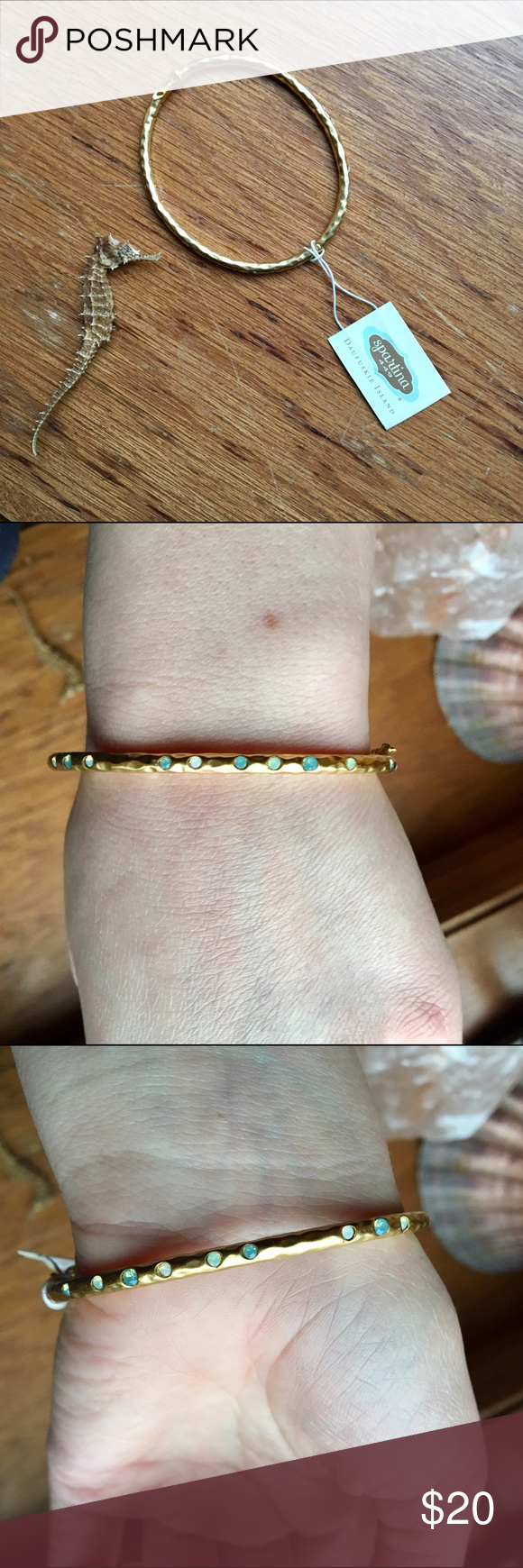 Spartina Gold Seafoam Bangle Super cute! Gold-plated. Can be worn on its own as a statement, or layered. Spartina Jewelry Bracelets