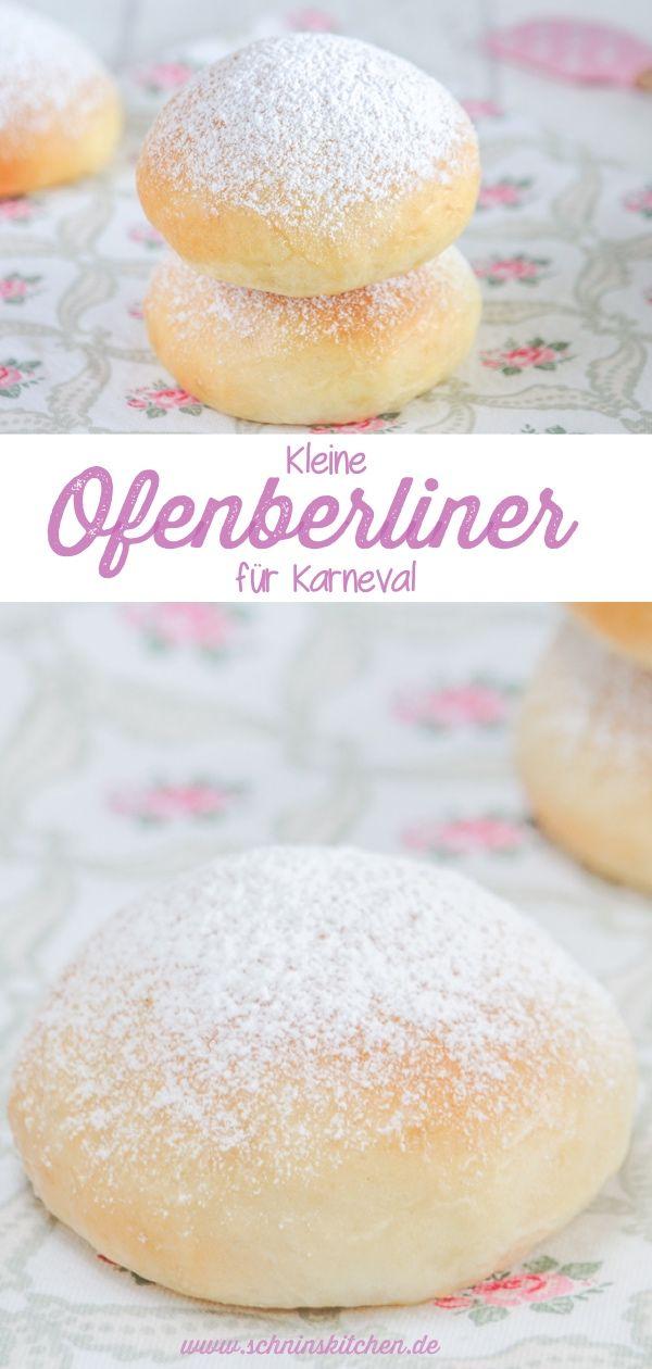 Fluffige Ofenberliner für Karneval