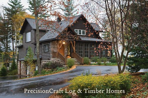 exterior of a custom hybrid home | wisconsin home | precisioncraft