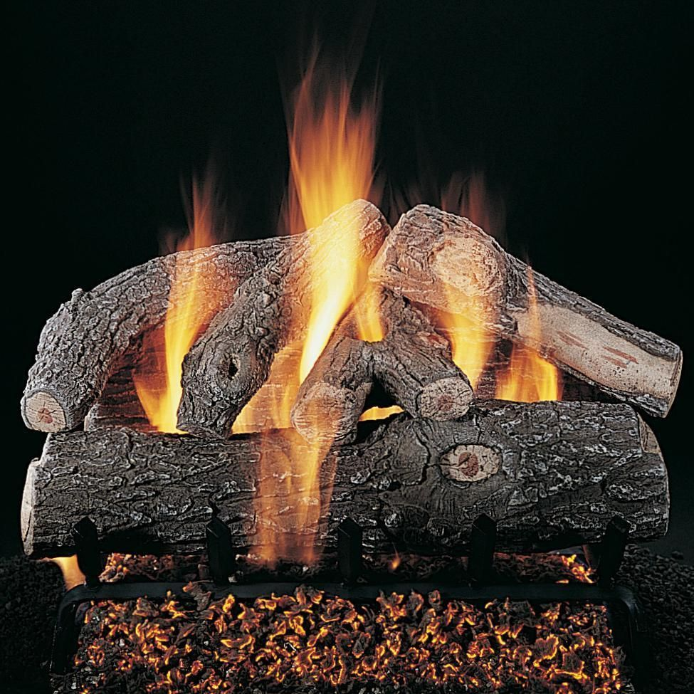 Rasmussen 24 Inch Frosted Oak Gas Log Set With Vented Natural Gas