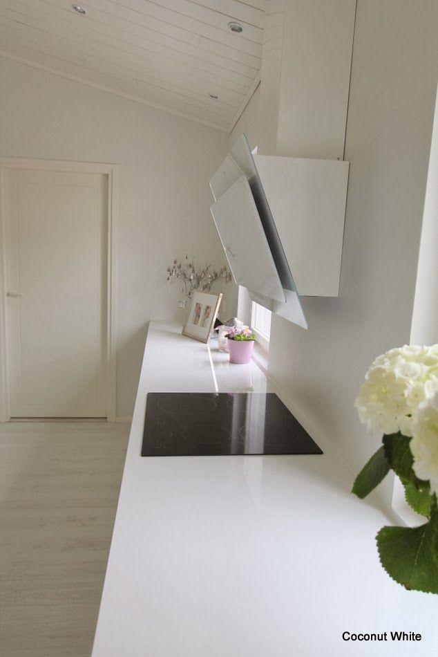 Coconut White: White , modern kitchen