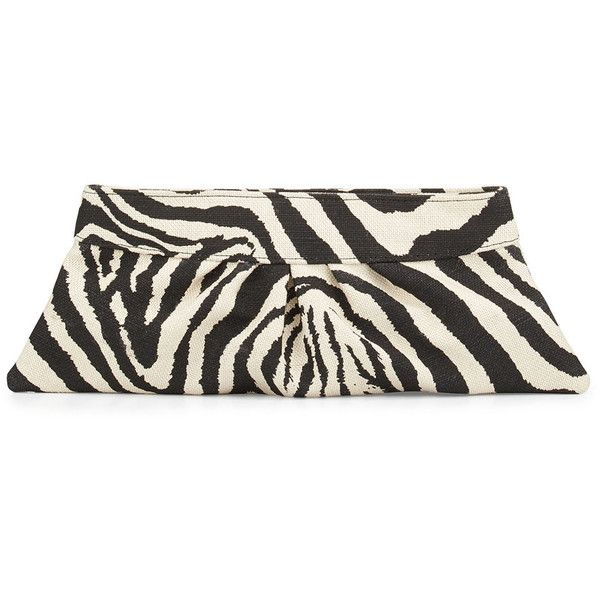 Lauren merkin louise zebra print clutch bag 145 ❤ liked on polyvore featuring bags handbags clutches black white purse striped handbag zebra