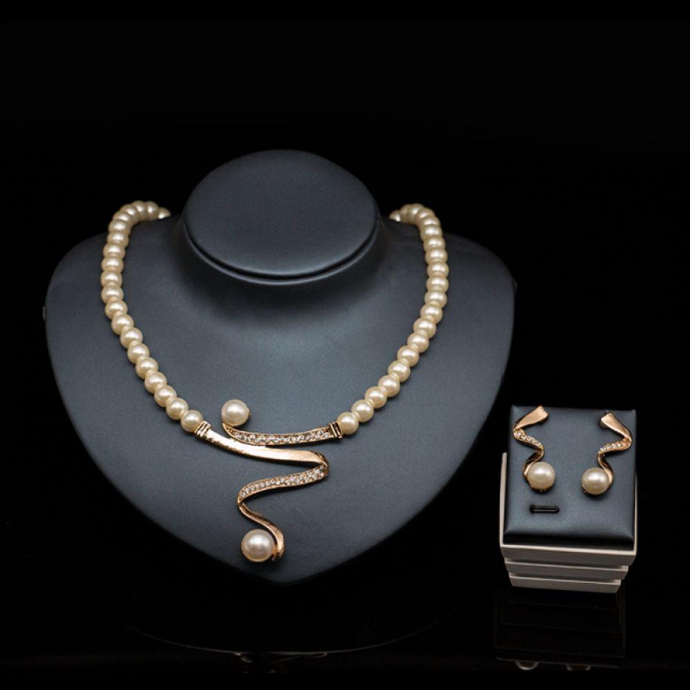 Charming Pearl Jewelry Set #nigerianischehochzeit