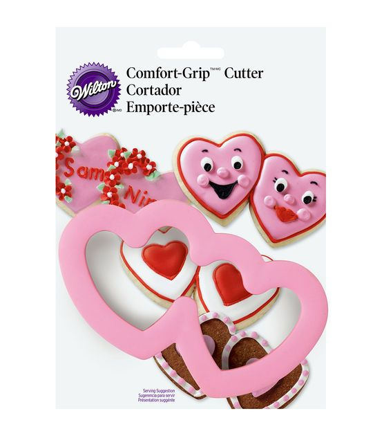 Wilton Cookie Cutter Set Comfort Grip Heart and Arrow Valentines Day