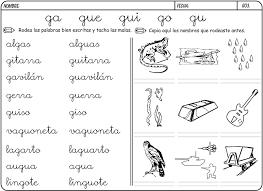 Resultado De Imagen Para Palabras Con Gue Y Gui Para Colorear Palabras Con G Actividades De Escritura Aprender Las Letras