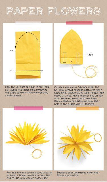 Easy Diy Decoration Paper Flowers Diy Paper Bag Flowers Paper