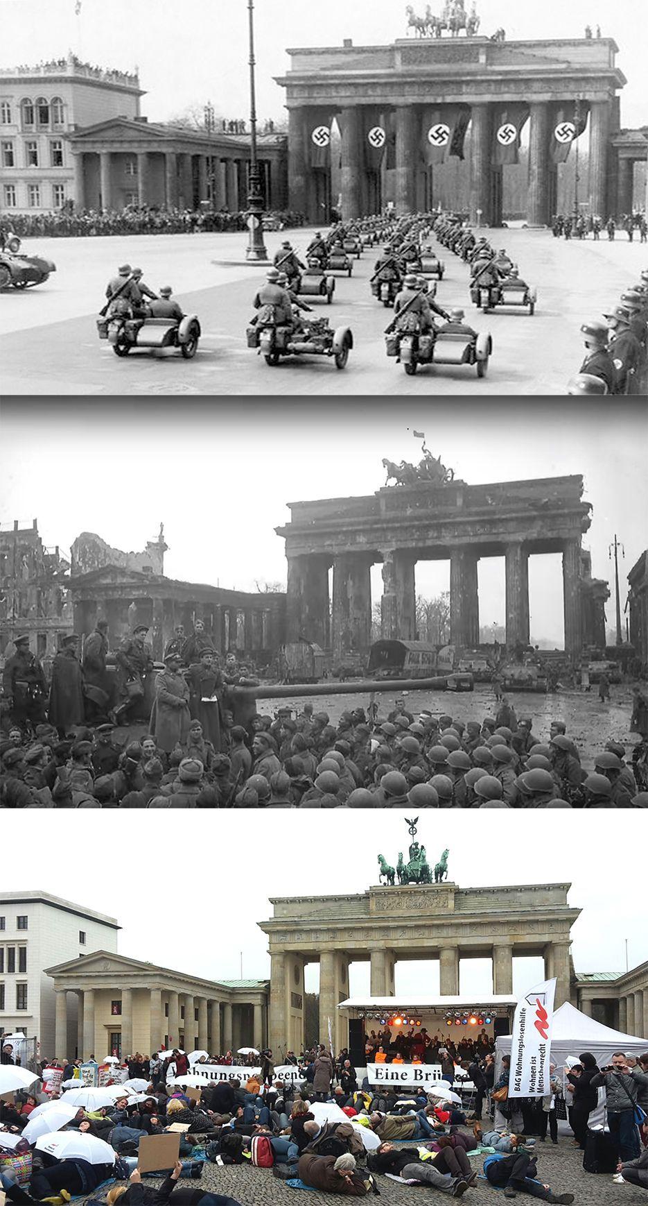 Torbrandenburg Brandenburger Gatebrandenburger Tor Brandenburg Gate Dunya Tarihi Askeri Tarih Brandenburg