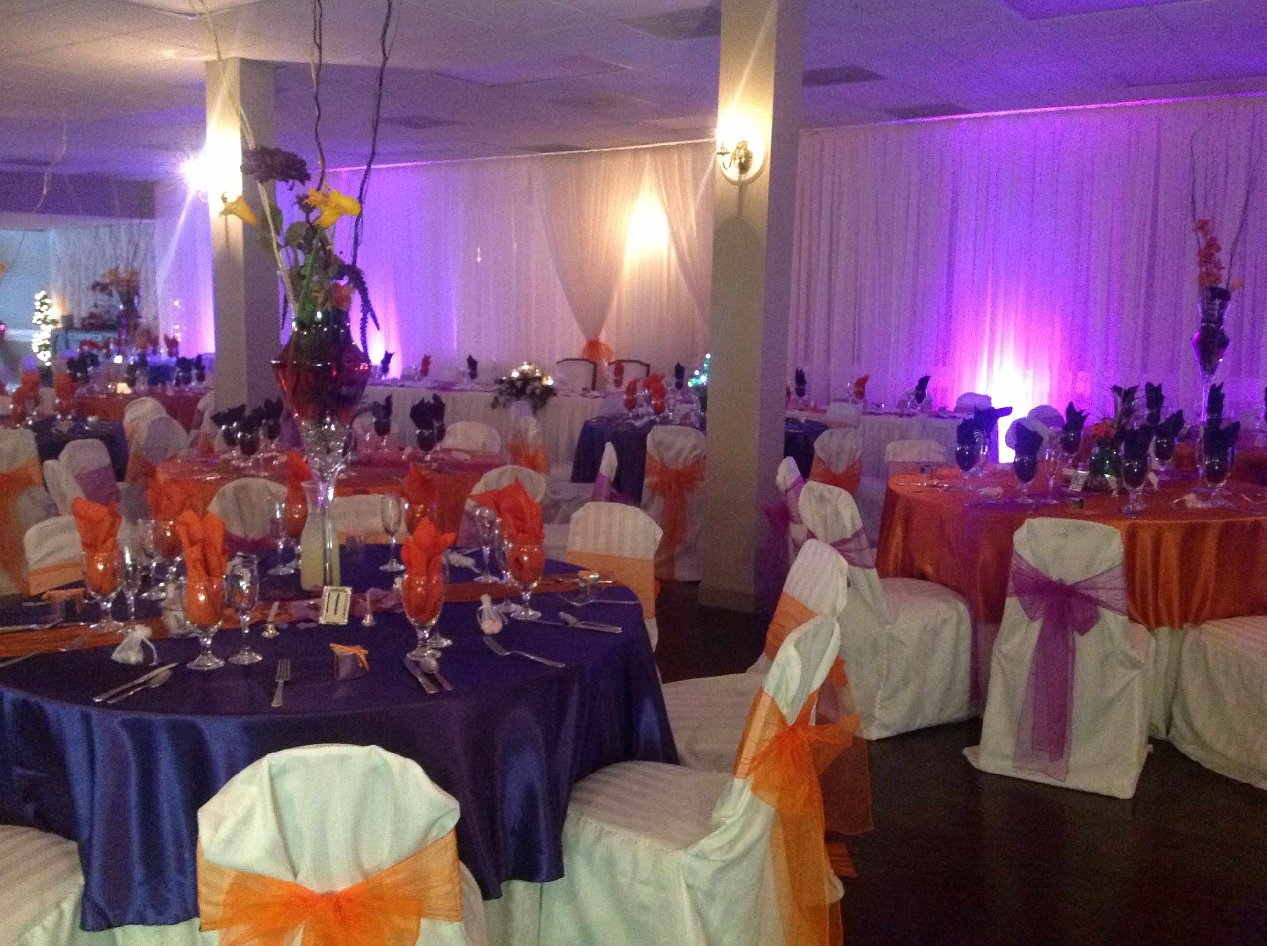 Royal Purple And Burnt Orange