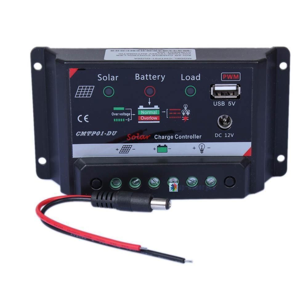 5a Solar Panel Battery Regulator Charge Controller Led Dc 12v Usb Batteries Wiring Diagram 5v Power Upc Sunyoba