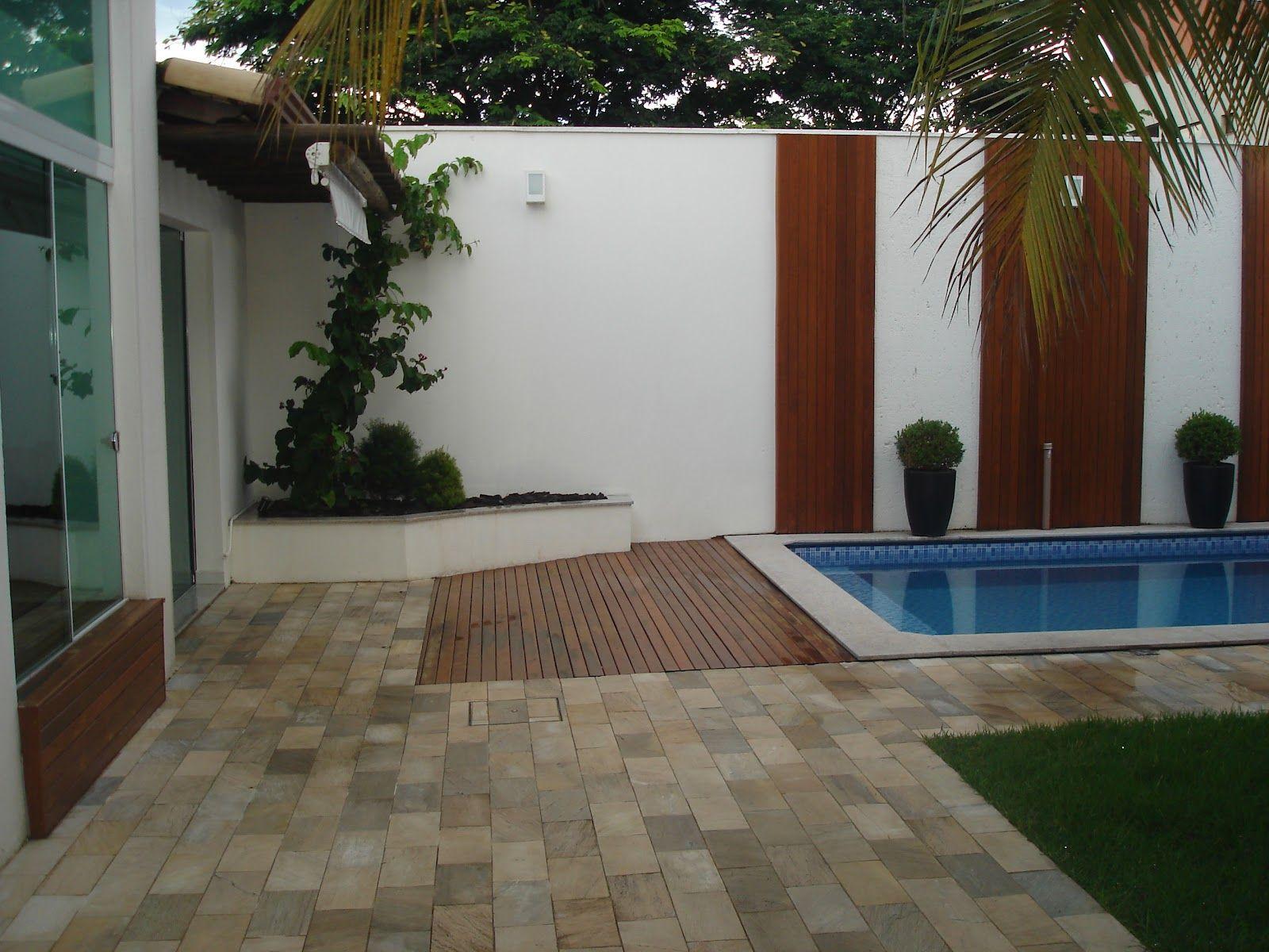 Pin de zoy maria en piscinas pr ximas ao muro decor for Piscina desmontable rectangular 3x2
