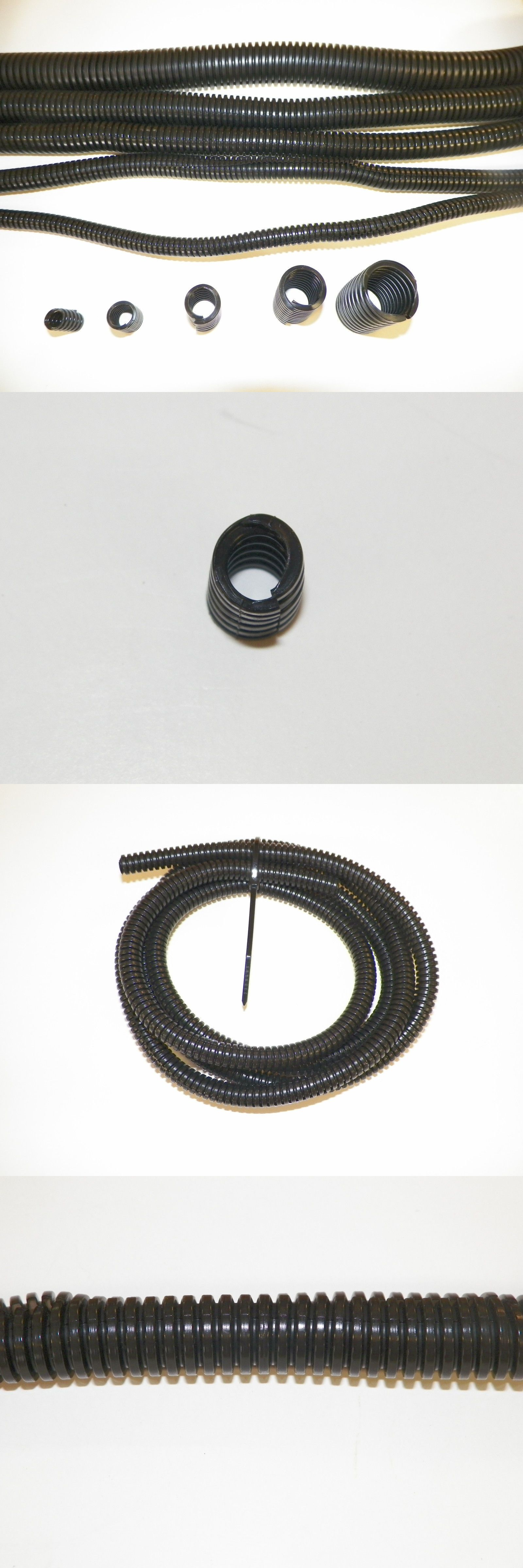 hight resolution of other crafts 75576 black split sleeve wiring harness loom flexable wire cover protection flex