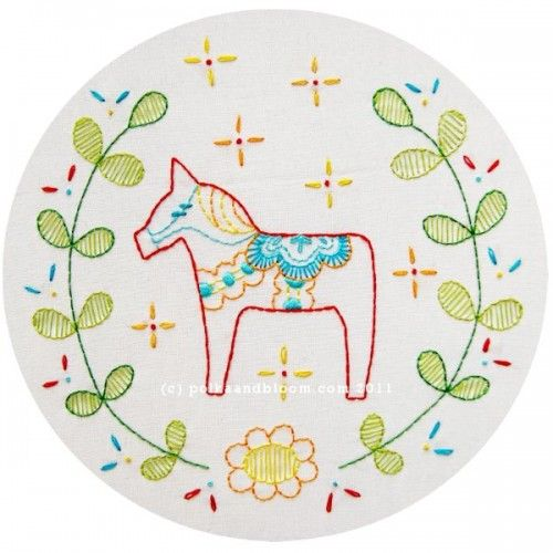 Swedish Horse - Dalecarlian Horse Embroidery Pattern