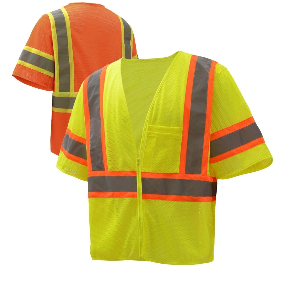 Gss safety 20052006 class 3 hivis contrast mesh zippered