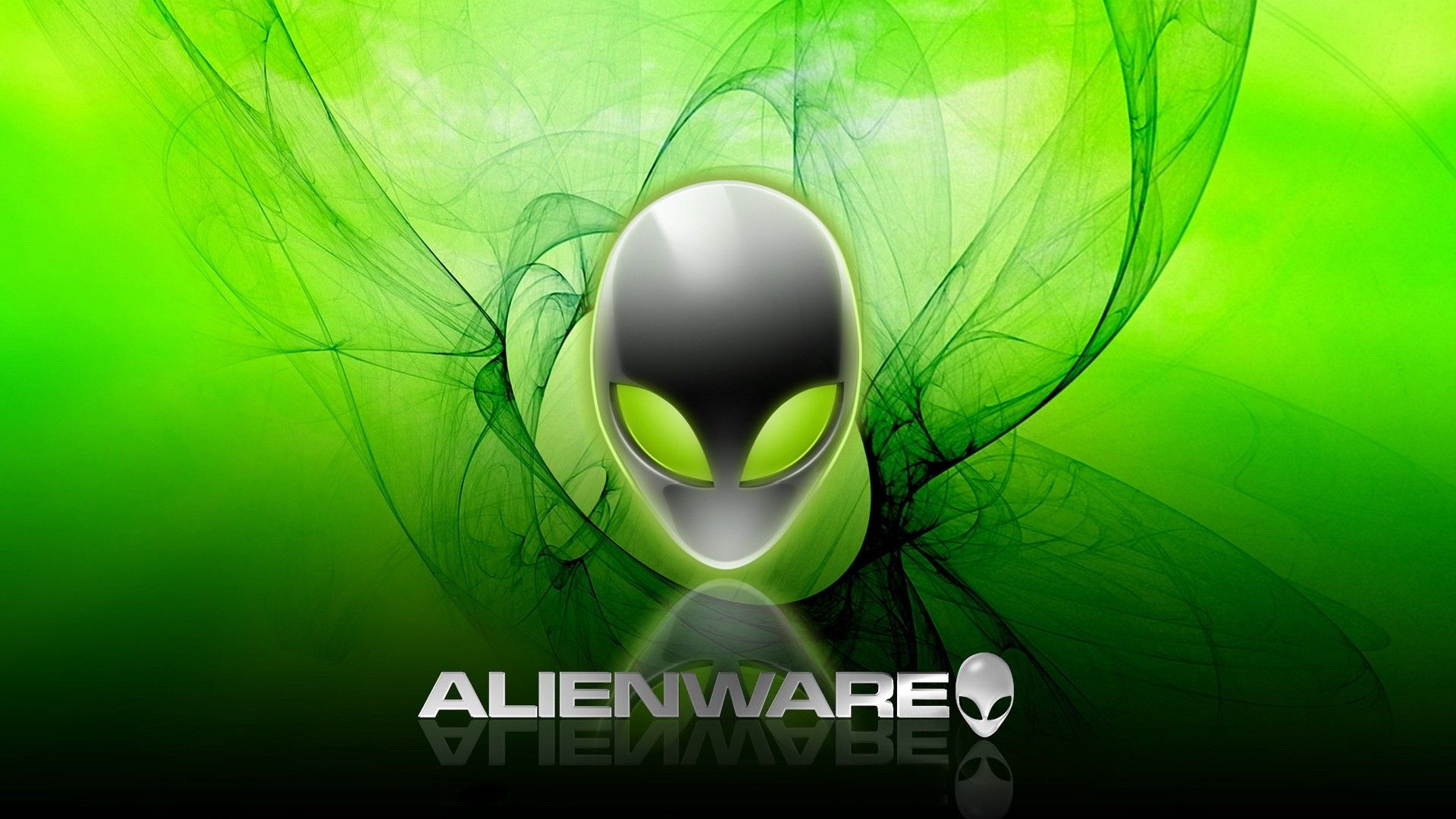 Alienware Logo HD Green wallpaper http//www.0wallpapers