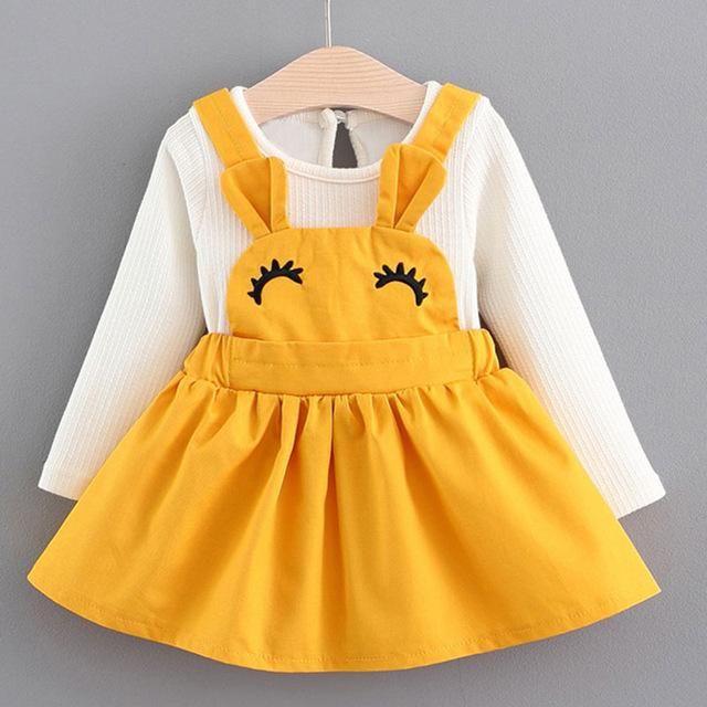 Photo of Entzückende Baumwolle Mini A-Linie Kleid-Baby Girl # Baby Kleidung fallen, #Babydresses Ad …