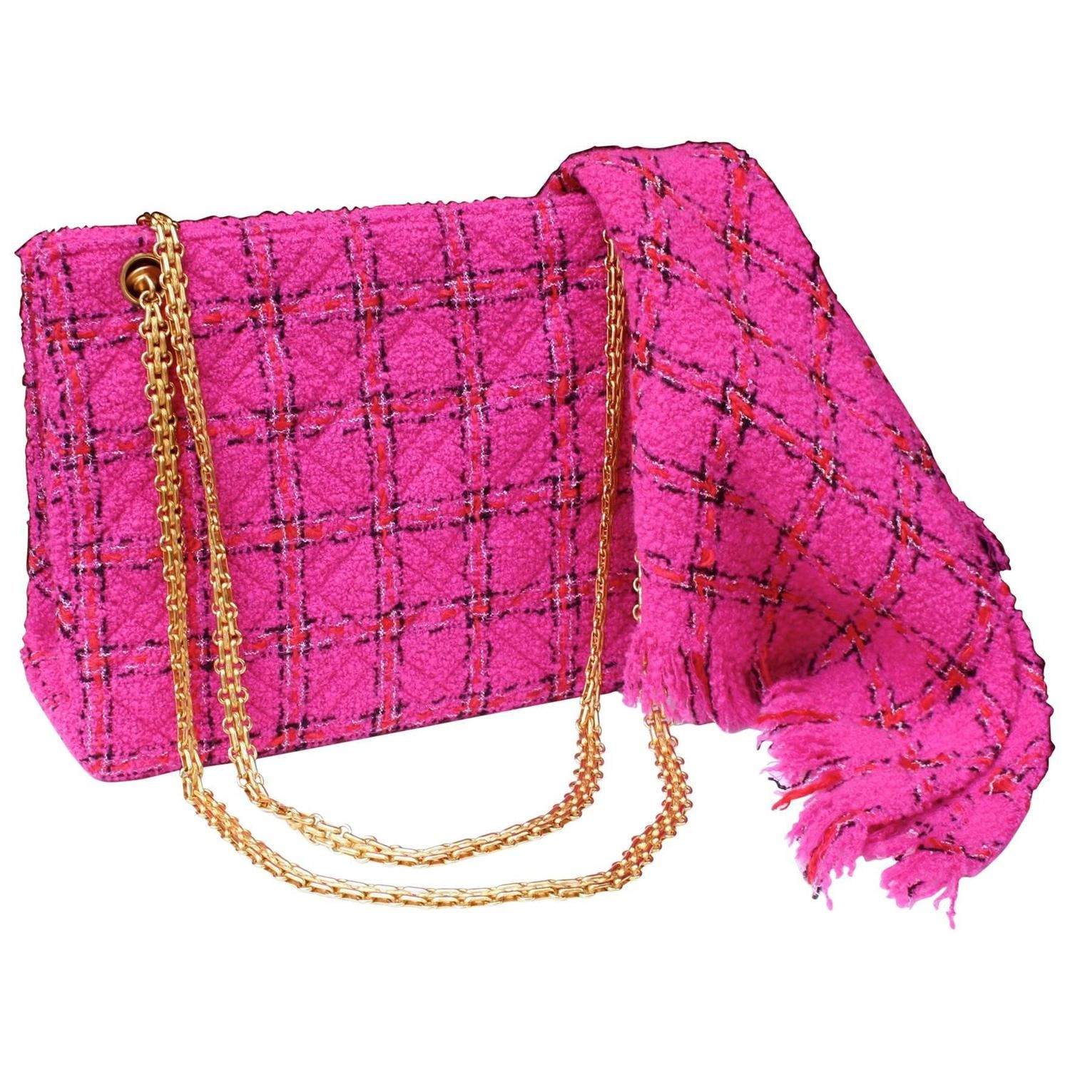 76448e66202c Chanel Pink Tweed Bag and Matching Scarf, 1990s | My 1stdibs ...