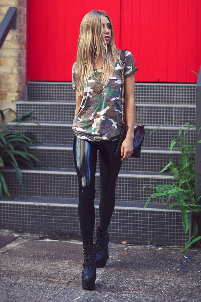 Black milk slicks pvc leggings