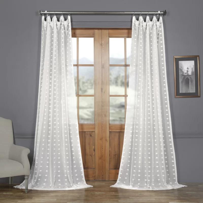 Levesque Sheer Rod Pocket Single Curtain Panel Reviews Joss Main Sheer Linen Curtains Half Price Drapes Curtain Single Panel