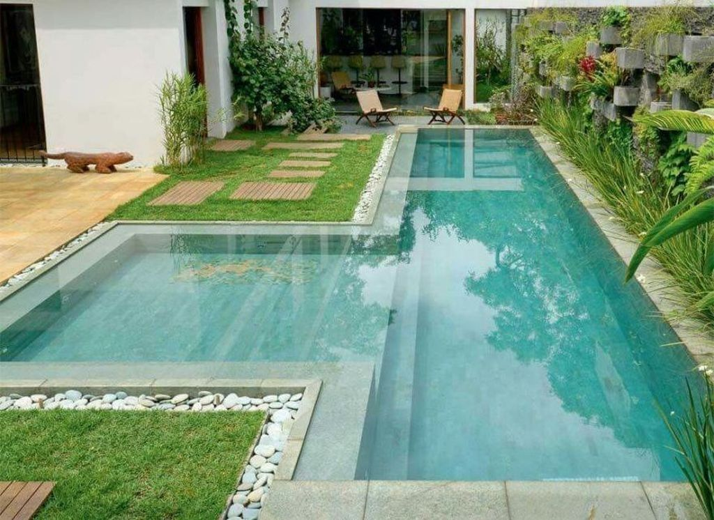 Cool 49 Creative Narrow Pools For The Tightest Spaces Ideas Lap Pools Backyard Backyard Pool Designs Lap Pool Designs