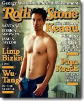 on the cover of Rolling Stone August 2000
