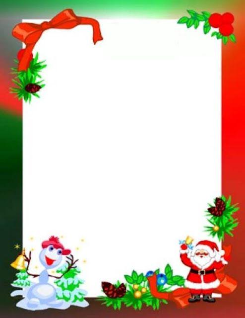 marcos y bordes tarjetas de navidad