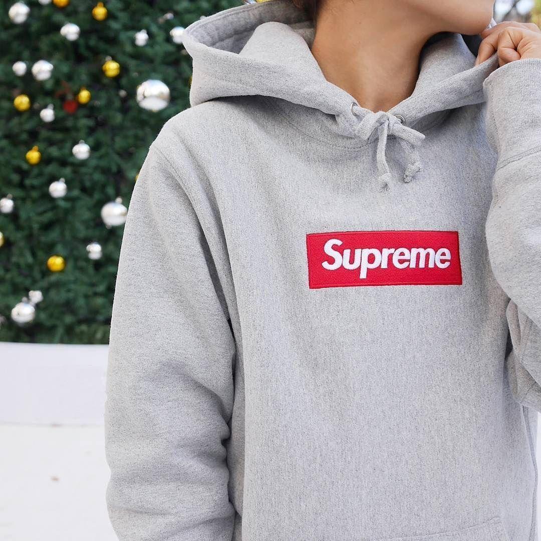 Supreme girls Box logo | Supreme clothing, Supreme hoodie
