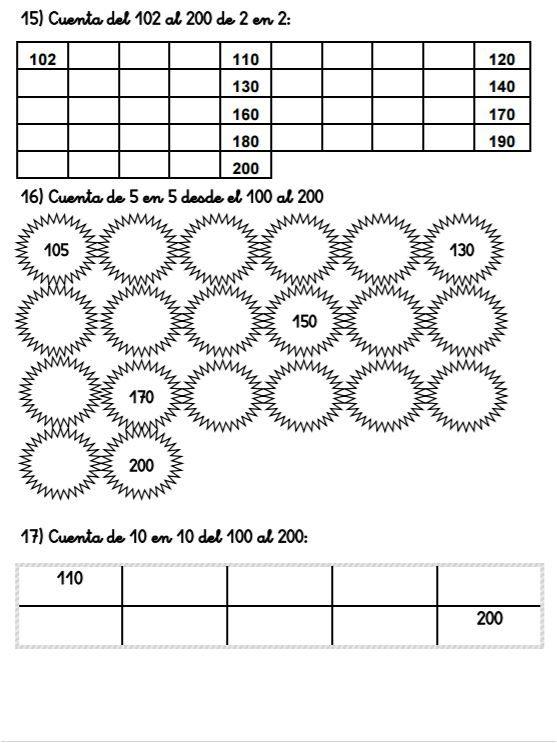 CUADERNO DE ACTIVIDADES DE NUMERACIÓN 100-200 - Aula PT ...