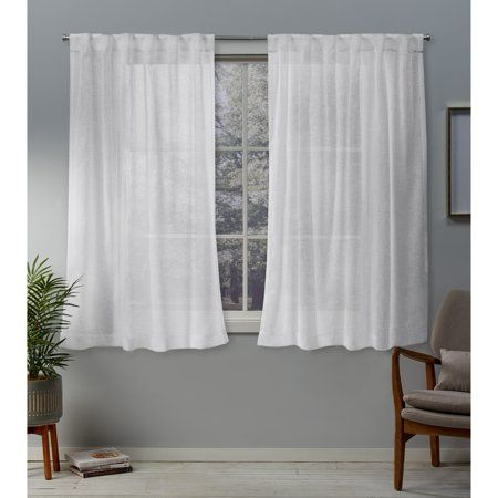 Exclusive Home Belgian Sheer Hidden Tab Top Curtain Panel Pair
