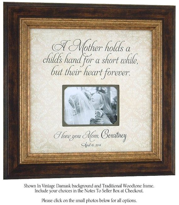Personalized Picture Frame For Mom A Mother Hold's...quote