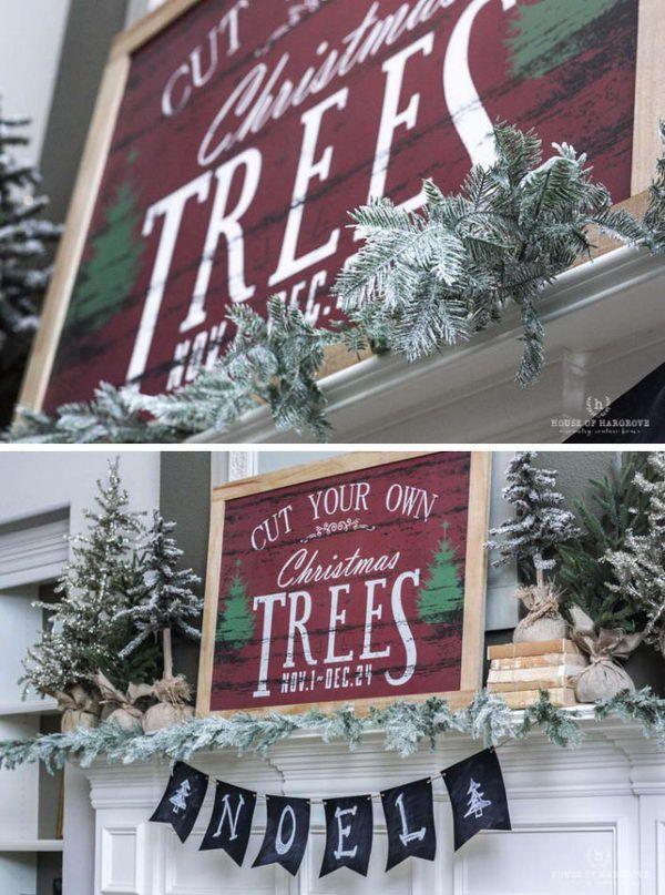 30 diy christmas decoration ideas - Diy Christmas Mantel Decorating Ideas