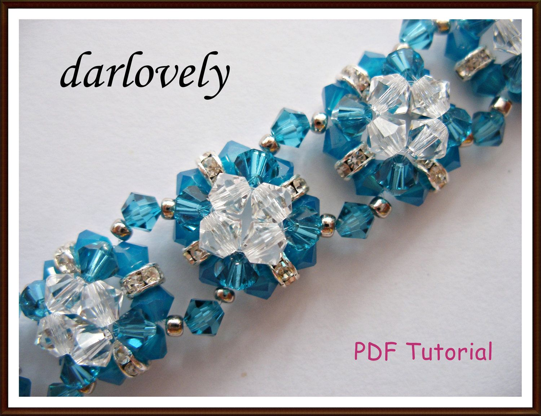 Swarovski Blue Square Flower Bracelet Pdf Tutorial Buy