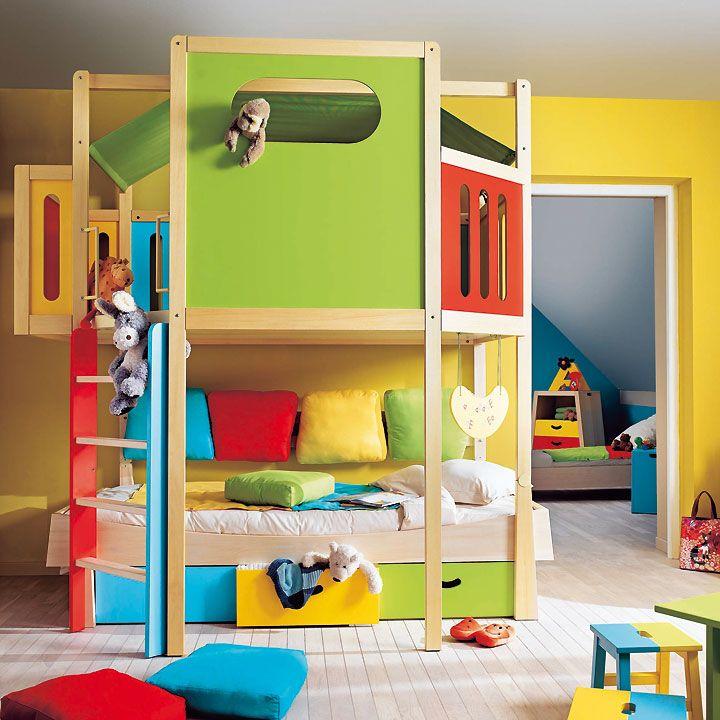 am nager une mezzanine dans une chambre d 39 enfant chambre enfants pinterest chambre enfant. Black Bedroom Furniture Sets. Home Design Ideas