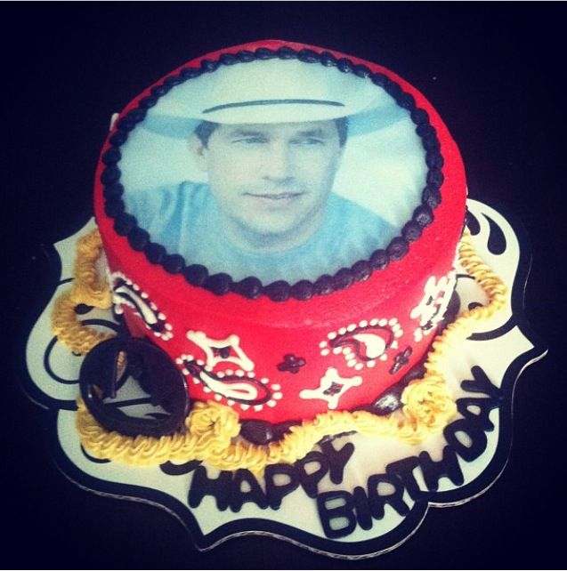 Peachy George Strait Western Cowboy Birthday Cake Bettierockercakes Funny Birthday Cards Online Elaedamsfinfo