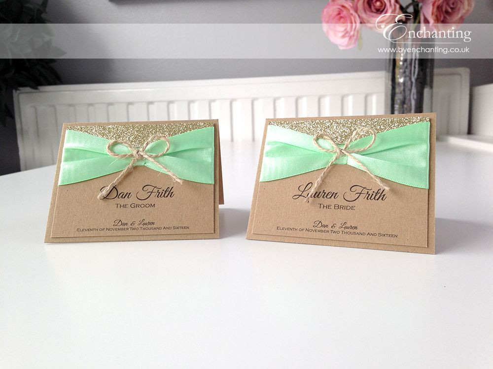 Mint Green Rustic Wedding Stationery | The Tinkerbell Collection ...