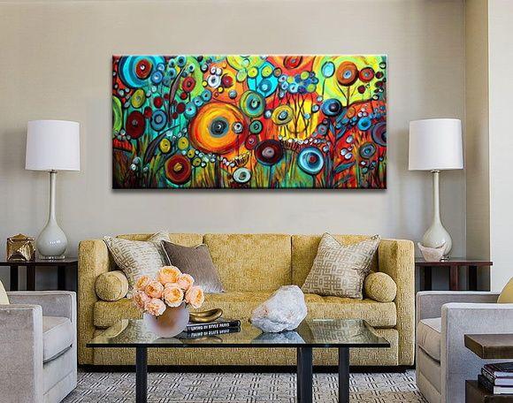 Pintura em tela abstrato moderno acabamento tela e artista for Pintura acrilica moderna