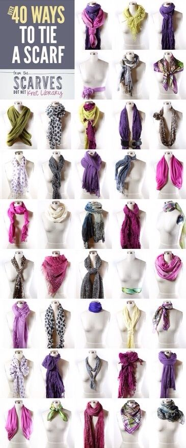 Different ways to wear scarves