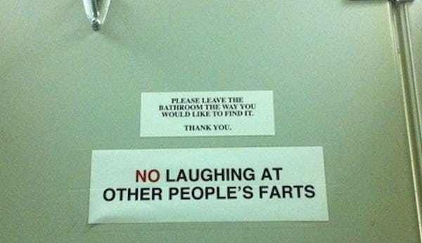 Work Of Fart Is Listed Or Ranked 5 On The List 22 Funny Bathroom