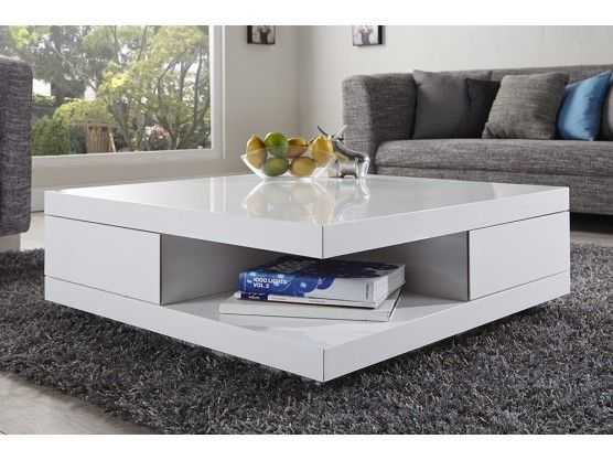 Table Basse Design Blanc Laque Ibiza Furniture Coffee Table Elegant Living Room Furniture