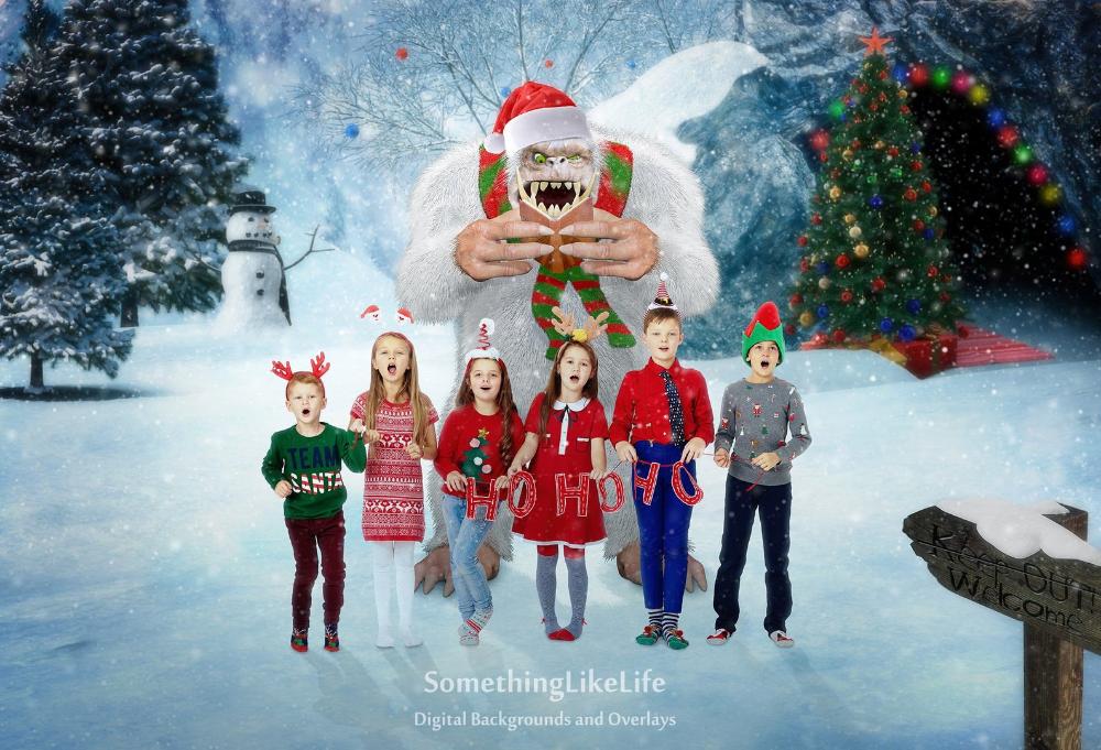 Eddie The Yeti Christmas Carol Christmas Digital Backdrop Etsy Digital Backdrops Christmas Carol Backdrops