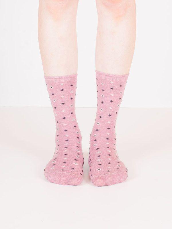 Women's Cotton Diamond Socks