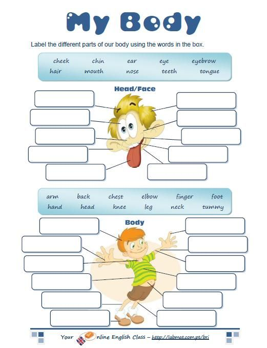 body parts worksheet | English for Kids | Pinterest | Worksheets ...