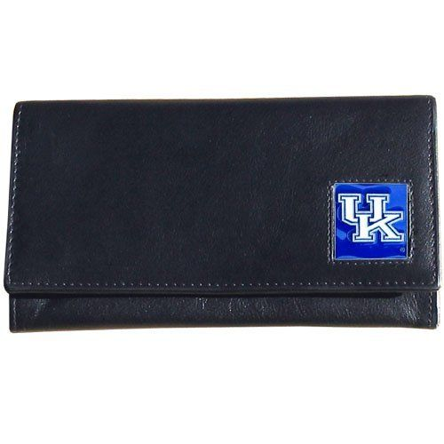 Kentucky Wildcats Women's Leather Wallet by Siskiyou. $20.99. Officially Licensed. Lots of pockets and storage space. Enameled Team Logo. High Quality Napa Grain Leather. NCAA Kentucky Wildcats Women's Leather Wallet. Save 30%!