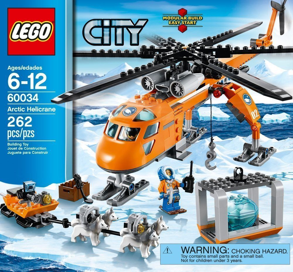 Pin lego 60032 city the lego summer wave in official images on - Lego City Helicopter Arctic Helicrane Explorer Theme Set Brick Building Toy Game Lego
