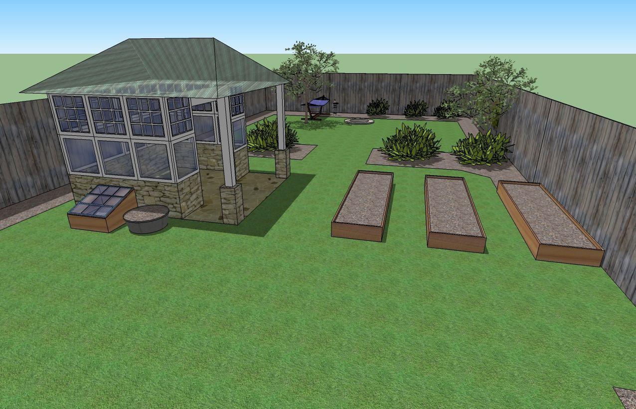 Garden planning using Google Sketchup
