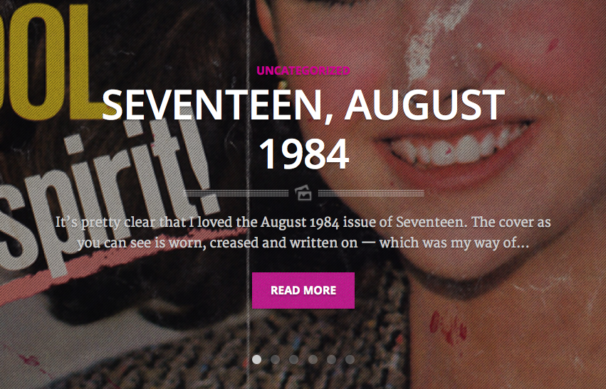 Today on periodicult.com: Seventeen, August 1984, revisited.