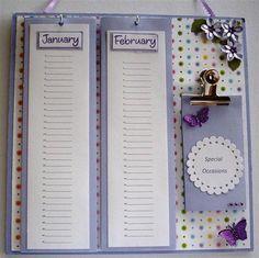 Another Birthday Calendar idea
