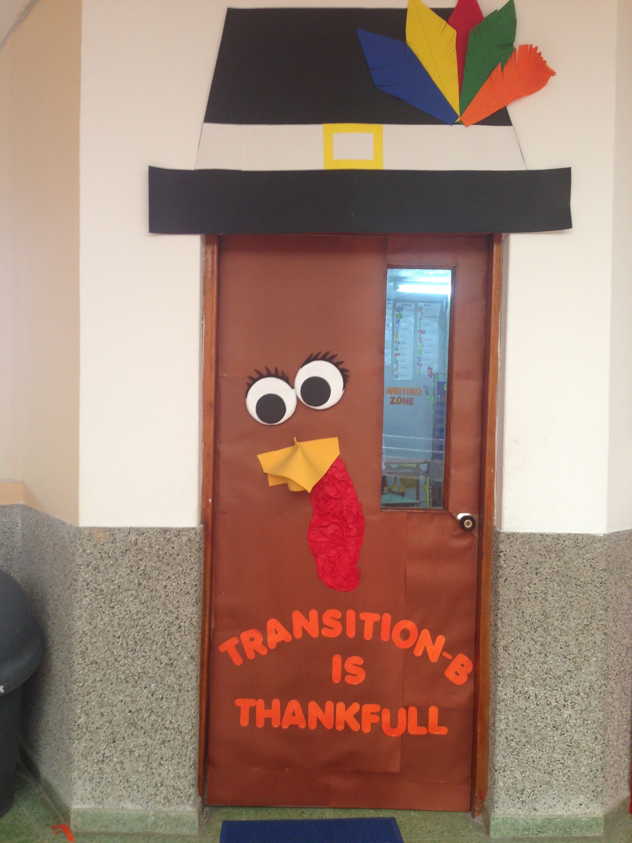 Turkey Classroom Door Easy Thanksgiving Classroom Door Happy