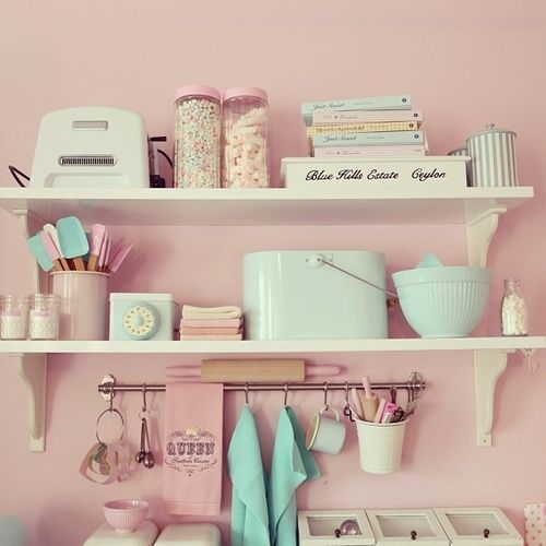 Most Por Tags For This Image Include Pink Kitchen Pastel Vintage And