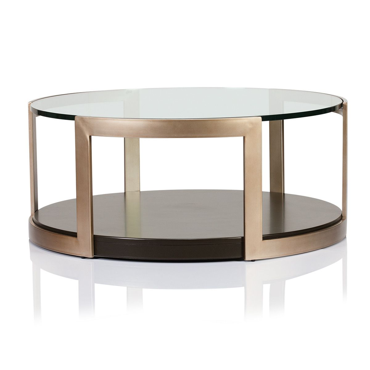 Manhattan Glass Top Round Coffee Table Furniture 家具 Pinterest