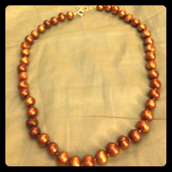 Jewelry - Authentic copper-colored freshwater pearls